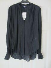 Ladies NEXT Navy Blue Blouse / Shirt With Diamond Pattern - Size 12 - BNWT