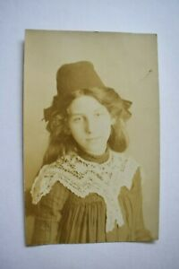 Vintage Postcard Young Girl Unposted Real Photo RP