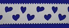 Bianco Amore Cuore Shabby Chic tagliato 22mm GROS Grain Nastro 1 Iarda Torte