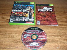 CRIME LIFE GANG WARS XBOX GAME COMPLETE