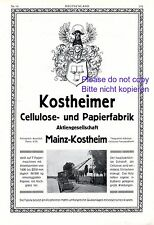 Papierfabrik Mainz Kostheim XL Reklame 1916 Flügelstier Wappen Werbung Kran