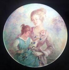 Vintage Limoges Plate 'Marie et Jacqueline' Guy Cambier #AJ648