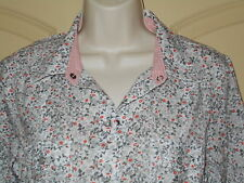 Western Cowgirl Shirt MEDIUM 10-12 Womens Old Navy Pearl Snaps Floral Tan 5w5