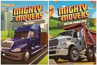 MIGHTY MOVERS BIG RIGS and MOTOR MONSTERS Board Books, 18 MO +, Set of 2