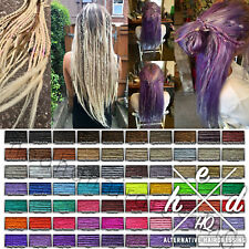 40x CUSTOM HANDMADE SYNTHETIC DREADLOCKS DREADS WITH WRAPS BEADS + FITTING BANDS