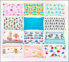 cot / cot bed spare pillowcases 40x60 cm new patterns cotton baby boy girl  kids
