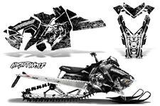 Polaris SKS Pro RMK Sled Decal Wrap Snowmobile Graphics Kit 06-10 NIGHTWOLF WHT