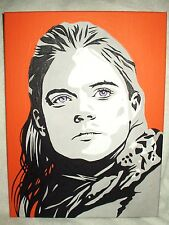 Canvas Painting Rose Leslie Game of Thrones Ygritte B&W Art 16x12 inch Acrylic