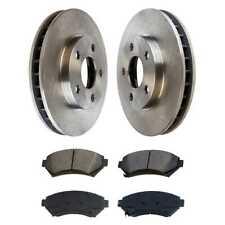 Front (2) Brake Rotors (4) Ceramic Brake Pad For 00-2003 2004 2005 Buick LeSabre