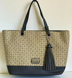 NEW! GUESS MARCIANO ANSON COLLECTION MOCHA BROWN SHOPPER TOTE BAG PURSE SALE