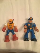 RESCUE HEROES - FISHER PRICE - USATO 2 ACTION FIGURE VINTAGE Lotto