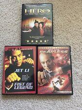 Lot Of 3 Jet Li Dvd Movies Hero Fearless Fist Of Legend
