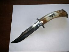 CUSTOMIZED LIMITED EDITON BUCK 119 SPECIAL CROWN STAG KNIFE & SHEATH - NOS