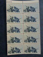 BATTLE of GETTYSBURG  USPS Commemorative Stamp  plate block of  10  #1180