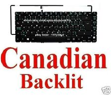 Acer Aspire MS2360 Keyboard Clavier - Canadian CA Backlit