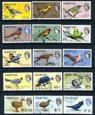 MAURITIUS-1965 Birds Set to 10r  Sg 317-331 FINE USED  V18850