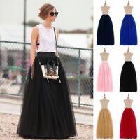 6 Layers Women Tulle Adult Tutu Skirt Maxi Petticoat Bridal Wedding Prom Dress