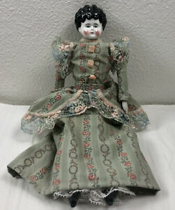 Antique China Head Doll Hand Sewn Dress