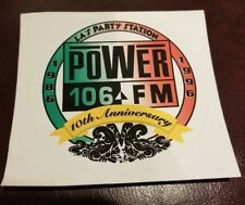 1996 10th Anniversary vintage Power 106 new sticker rare collectible