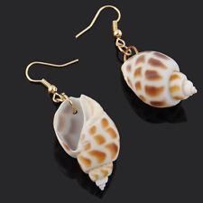 Design Conch Drop Earring Fashion Dangle Earring Conch Shape Seashells Metal