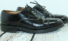 Mens Alfred Sargent cap toe oxford shoes Size 7.5 US 6.5 UK)  black leather (A8)