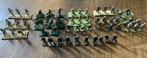 Huge Lot Of 46 HAND PAINTED Toy Soldiers- Various Mixed Lot Vintage