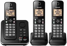 Panasonic KX-TG633SK Cordless 3 Handset Landline Telephone w/ Answering Machine