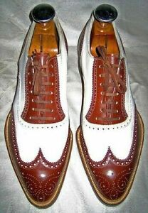 New Handmade men's white and burgundy shoes, spectator shoes for men dress shoes