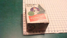 Vintage CHRISTMAS--candy filled Christmas Balls in box TIN EARLY made in Ireland