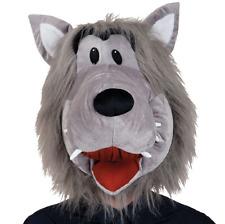 Adult Big Bad Wolf Mascot Big Head Fancy Dress Halloween Costume Accessory Mask