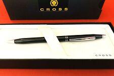 CROSS Century Black Lacquer B/P Pen W/ Chrome Double Band Accents Vintage W/Box