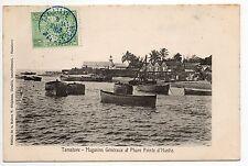 MADAGASCAR TAMATAVE colonie française Magasins généraux et Phare pointe d'Hastie