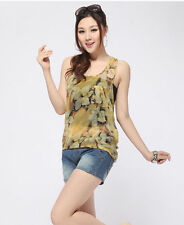 Unbranded Chiffon V Neck Floral Tops & Shirts for Women