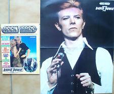 Rock Hebdo N° 34 poster David BOWIE ROD STEWART LITTLE BOB IAN DURY DR FEELGOOD