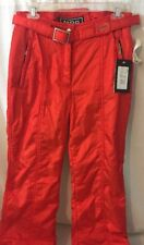 Womens MDC Snowboard Pants Snow Ski Pants Red/Orange Size 10 NWT