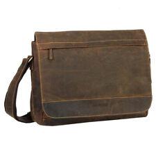 Greenburry Herren Vintage Leder Umhängetasche Schultertasche Crossover Bag 1766B