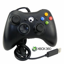 BLACK USB Wired Xbox 360 Controller Game Pad For Microsoft Xbox 360 UK FASTPOST