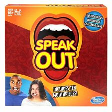 Speak Out Hilarious Ridiculous Challenging Fun Family Game With 10 Mouthpieces