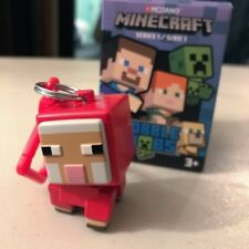 Minecraft Bobble Mobs Red Sheep Series 1 Keychain Dangler