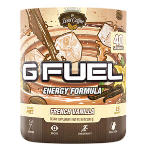 Gamma Labs G Fuel French Vanilla Iced Coffee GFuel 40 Servings