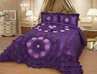 OctoRose Wedding Bedding Oversize Comforter Bedspread Quilts Set Queen or King