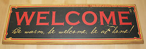 Vintage WELCOME SIGN Danielson Designs Artisan Crafted Retired Home Business