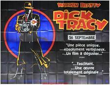 DICK TRACY Affiche Cinéma GEANTE / WIDE Movie Poster WARREN BEATY DUSTIN HOFFMAN
