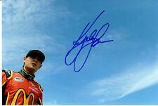 KYLE LARSON ROOKIE NASCAR   4 X 6 PHOTO CARD AUTOGRAPH  AD10195