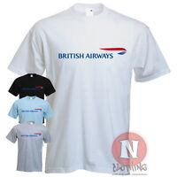 Naughtees Clothing British Airways logo plane spotters airline crew t-shirt