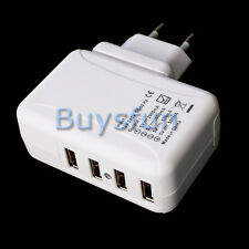 2A 4-Port USB EU Plug AC Wall Charger Adapter For Apple iPod Touch 4 4G 4TH