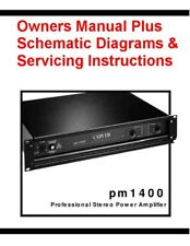 CARVER PM-1400  OWNERS + SERVICING INSTRUCTIONS ON A CD