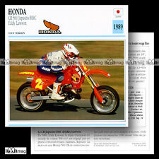 #035.18 HONDA CR 500 JAPAUTO HRC & EDDY LAWSON 1989 Fiche Moto Motorcycle Card