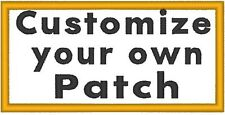 "Custom Embroidered 4""x 4"" Name Tag 3 LINES Patch With VELCRO® Brand Fastener #14"