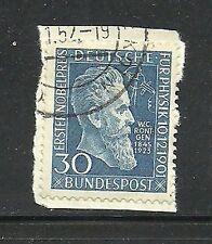 Album Treasures Germany Scott # 686  30pf Roentgen VFU CDS on Piece